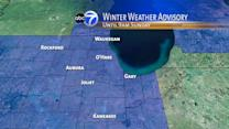 Winter weather advisory for Chicago area