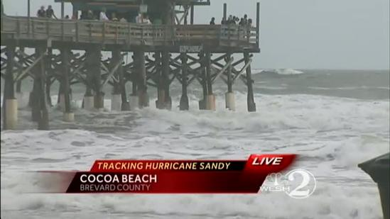 Brevard County prepares for Hurricane Sandy to pass by