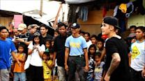 Pop star Bieber brings cheer in typhoon-hit Philippines