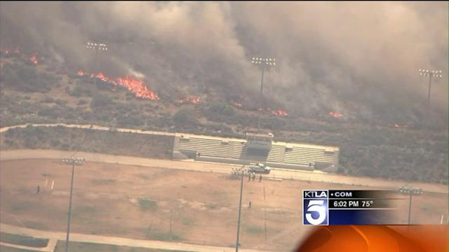 Grand Fire Burning Out of Control in Frazier Park