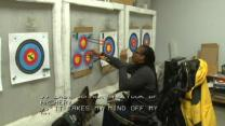 Archery adapted for physical disabilities