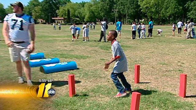 Fort Bragg students learn from Panthers