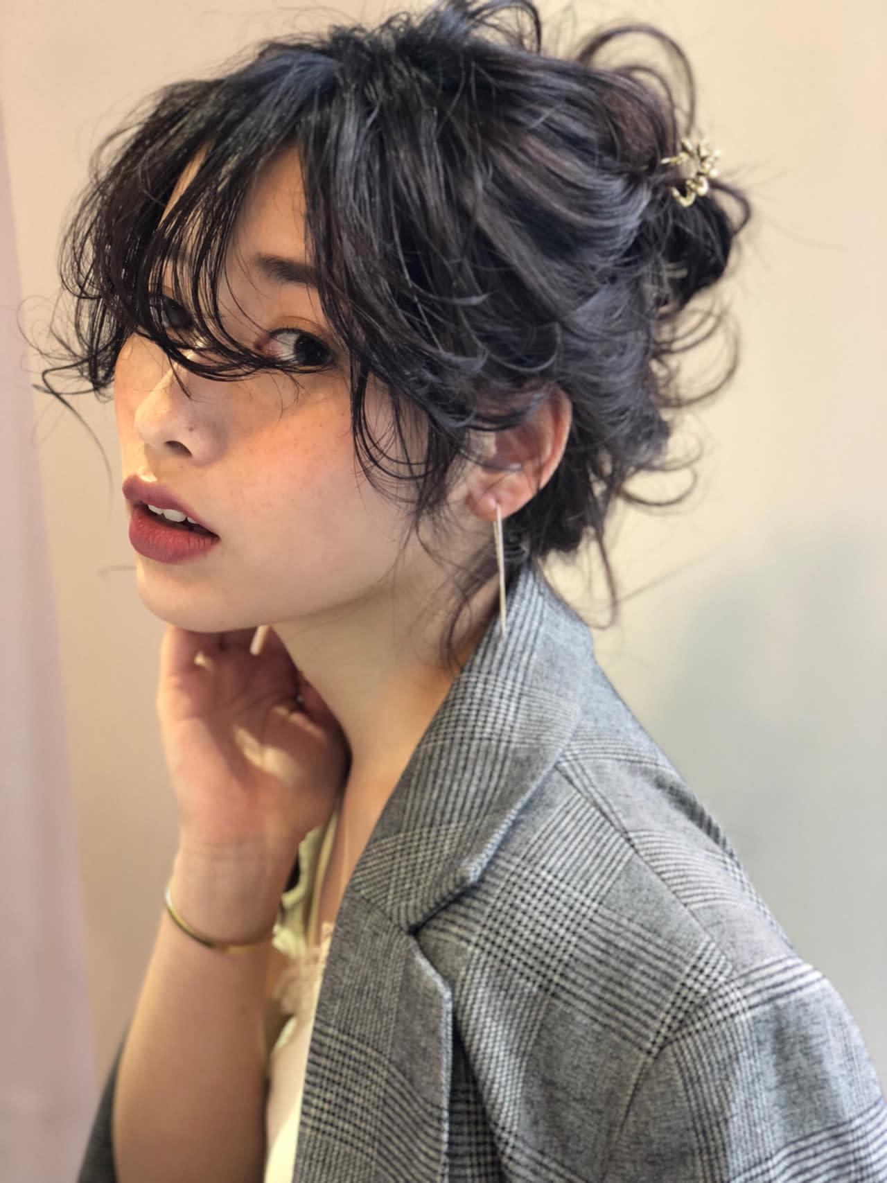 丸子頭×髮飾