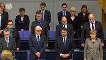 German parliament holds minute's silence for Airbus crash victims