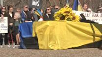 Ukrainians gather in D.C. to honor those killed back home