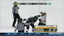 Adam McQuaid and Kyle Clifford scrap
