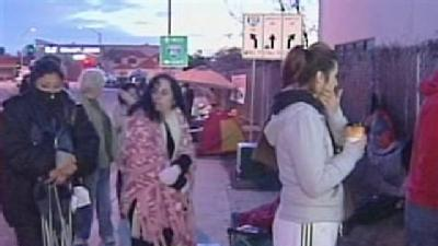 Hundreds Camp Out At Charter School