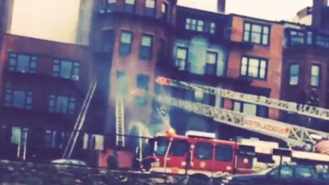 Nine-Alarm Fire Engulfs Apartment Building in Back Bay