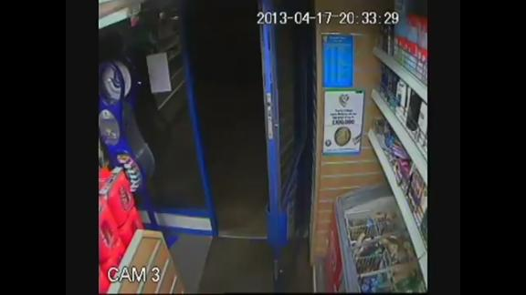 Brave shopkeeper sees off robber with bottle of Lucozade