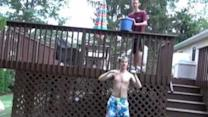 Guy Seemingly Clobbered With Solid Ice in ALS Challenge Fail