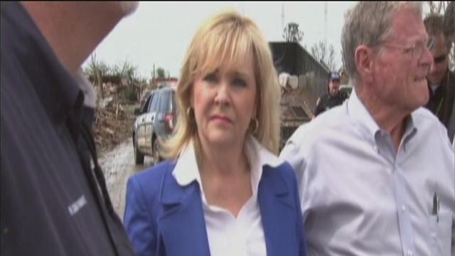 Oklahoma Governor Mary Fallin tours tornado damage in Moore