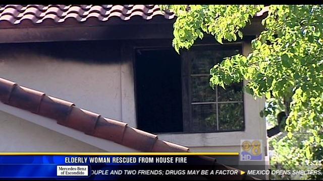 Elderly woman rescued from North County house fire