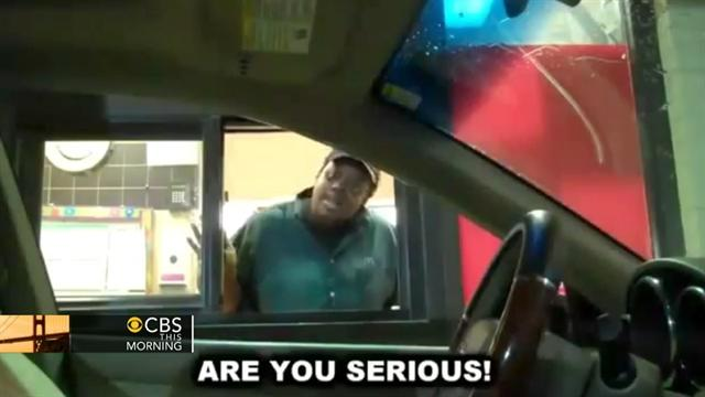 Invisible driver spooks fast food workers