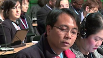 Delegate From Philippines Makes Emotional Speech