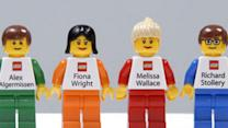 Lego Mini Figurines Serve as Business Cards