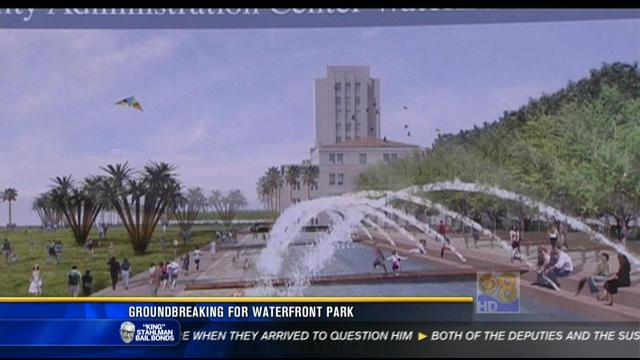 Groundbreaking for waterfront park