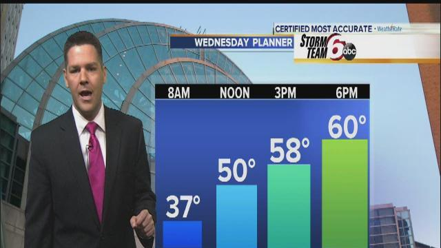 Chilly start opens moderate, clear day