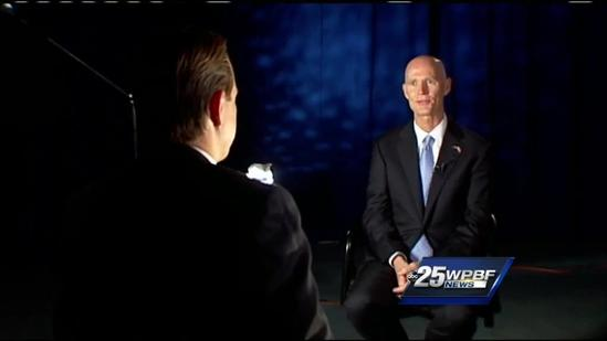 Gov. Rick Scott talks state surplus, St. Lucie River woes