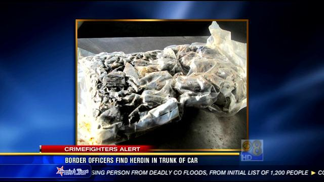 Border officers find heroin in trunk of car