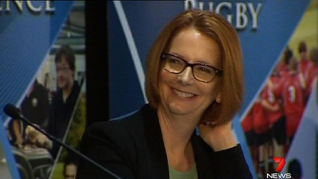 Warm welcome for Gillard in Perth
