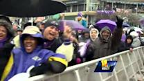 Inner Harbor rally pumps up Baltimore Ravens fans