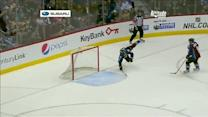 Andre Benoit sacrifices himself to save goal