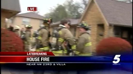 1 hurt in NW Oklahoma City house fire