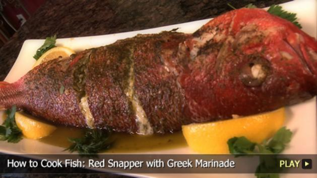 How to Cook Fish: Red Snapper with Greek Marinade