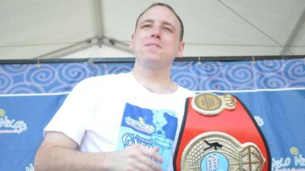 Joey Chestnut wins gyro eating contest