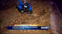 Belton chase ends when pickup hits tree