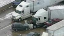 Bad weather blamed for crashes in Michigan, Indiana