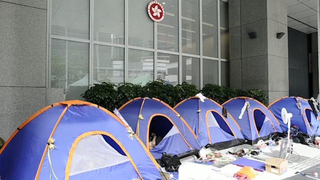 HK students protest over 'brainwashing' classes