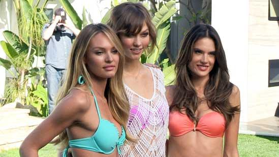 Victoria's Secret Angels Introduce Swimwear Collection