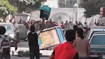 Raw: Egypt Protesters Clash in Street Battles