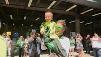 Boy With Cystic Fibrosis Lives Dream as Garbage Man for a Day