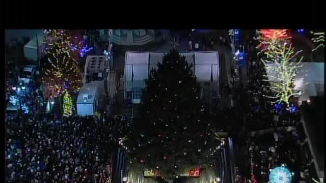 Detroit Christmas tree lighting: Part 1