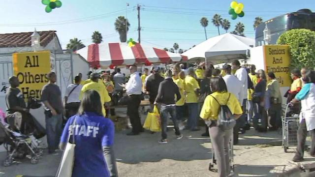 EJ Jackson Limousine annual turkey giveaway day event low on donations