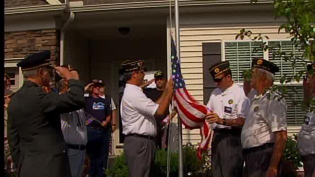 VFW protest flag pole removal