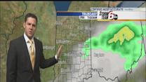Overnight rain leads to cooler temperatures for Friday