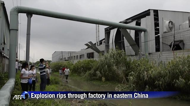 Scores killed in China factory explosion