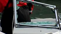 Two injured when speedboat collided with ferry