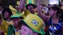 Brazil Fans React to Quarterfinal Win Over Colombia