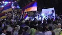 Yerevan Electricity Protesters Scuffle Over EU Flag