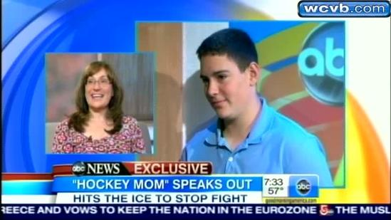 Hockey mom who stormed ice speaks out on GMA