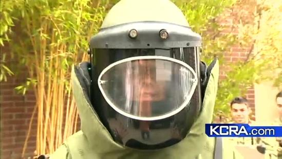What does it take to run a mile in a bomb suit?