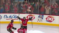 Giordano ties it with five seconds left