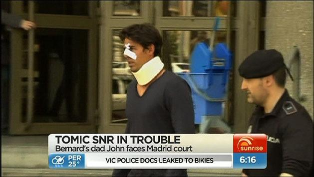 Tomic's father charged with assault