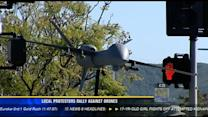 Local protesters rally against drones