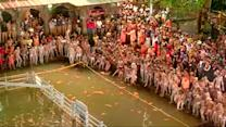Thousands take a dip during India's Kumbh Mela