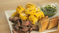 Skirt Steak and Corn with Chimichuri